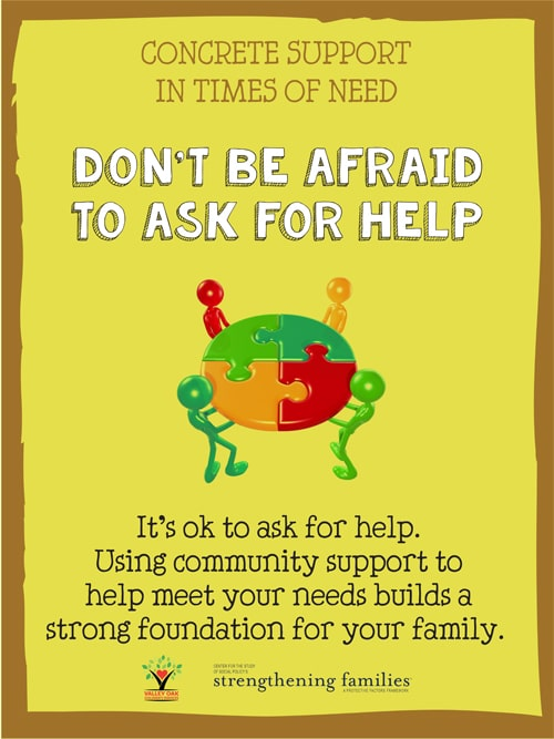 Don't be afraid to ask for help
